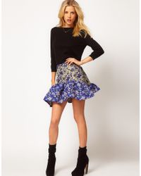 ASOS Collection Asos Jacquard Skirt with Trumpet Hem - Lyst