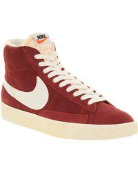 Lyst Nike Blazer Hi Suede Vintage Team Red in Red for Men