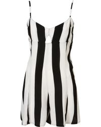Topshop Gracie Playsuit By Motel black - Lyst