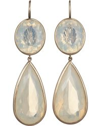 Anaconda - Honey Opal Double Drop Earrings - Lyst
