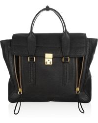 3.1 Phillip Lim The Pashli Large Shark-Effect Leather Trapeze Bag - Lyst