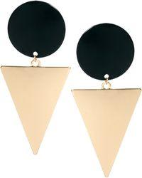 Asos Xl Spot Triangle Doorknocker Earrings - Lyst