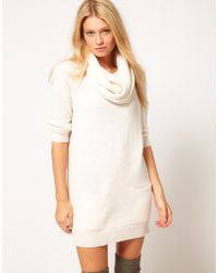ASOS Collection Asos Jumper Dress with Matching Snood white - Lyst