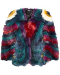 Meadham Kirchhoff Hibiscus Monster Faux Fur Coat - Lyst