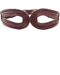 Rachel Zoe Cord Snakeskin Belt with Screw Buckle red - Lyst