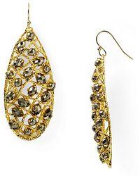 Alexis - Bittar Siyabona Midnight Gold Pyrite Woven Earrings - Lyst