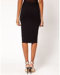 ASOS Collection Asos Pencil Skirt in Jersey blue - Lyst