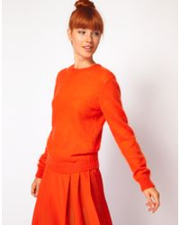 Richard Nicoll Knitted Crew Neck Jumper in Mohair - Lyst