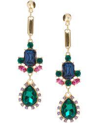 Asos Luxury Spike Gem Drop Earrings multicolor - Lyst