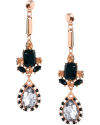 Asos Luxury Spike Gem Drop Earrings - Lyst