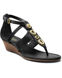 Coach Vicky Low Wedge Sandal - Lyst