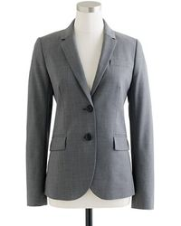 J.Crew Petite 1035 Two-Button Jacket In Italian Stretch Wool gray - Lyst