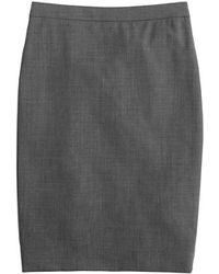 J.Crew Pencil Skirt In Italian Stretch Wool gray - Lyst