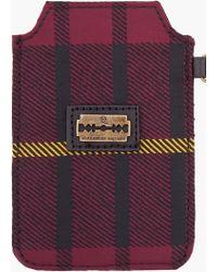 McQ - Tartan Razor Blade Iphone Case - Lyst
