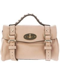 Mulberry Mini Alexa Bag beige - Lyst