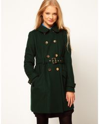 ASOS Collection  Cute Military Fit and Flare Coat - Lyst