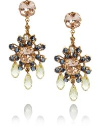 Bijoux Heart - Daisy 24karat Goldplated Swarovski Crystal Earrings - Lyst