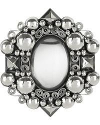 Bottega Veneta - Antiqued Sterling Silver Rock Crystal Brooch - Lyst