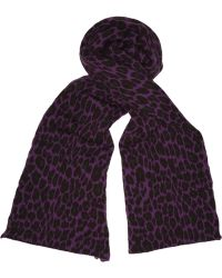 Christopher Kane - Double Cashmere Leopard Print Scarf - Lyst