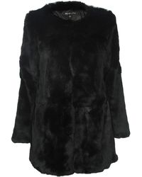 Elizabeth And James Bora Rabbit Fur Coat - Lyst