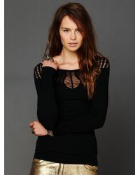 Intimately Cut Out Neck Long Sleeve Top - Lyst