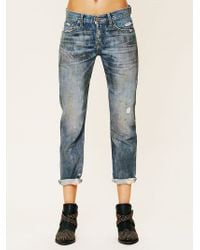 Nsf Clothing Oil Stained Boyfriend Jeans - Lyst