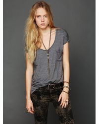 Free People We The Free Retro Solid Tee gray - Lyst
