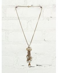 Free People Vintage Pearl and Chainlink Necklace - Lyst