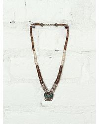 Free People Vintage Turquoise Bird Necklace - Lyst