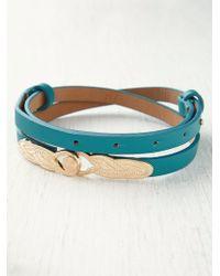 Free People Deco Lock Belt blue - Lyst