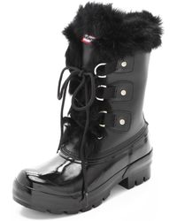 Hunter Cathie Boots with Fur Trim - Lyst