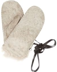 Karl Donoghue - Shearling Mittens - Lyst