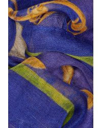 Swash London - Heliotrope Snaffle Wool Cashmere and Silk Blend Scarf - Lyst