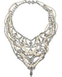 Tom Binns - Regal Rocker Swarovski Crystal and Crystal Pearl Necklace - Lyst