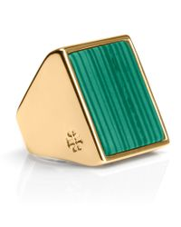 Tory Burch Flat Stone Ring - Lyst