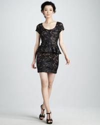 Tracy Reese - Lace Peplum Shift Dress - Lyst