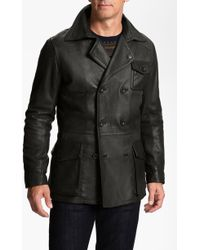 Ugg Bolton Leather Coat - Lyst