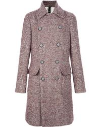 Chatcwin | Tweed Peacoat | Lyst