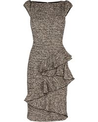 Karen Millen Woolly Tweed Collection Dress - Lyst