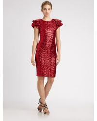 Notte by Marchesa Sequined Dress - Lyst