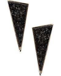 Topshop Mineral Triangle Earrings black - Lyst