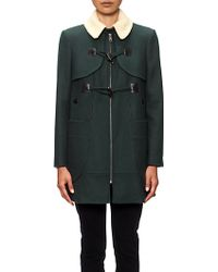 Whistles Camille Melton Duffle Coat in Green | Lyst
