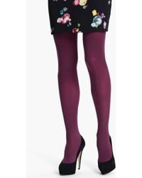 DKNY 412 Control Top Opaque Tights - Lyst