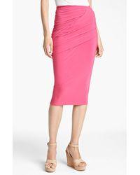Donna Karan New York Collection Draped Jersey Skirt - Lyst