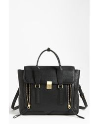 3.1 Phillip Lim 'Pashli' Leather Satchel black - Lyst