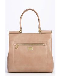 Dolce & Gabbana Miss Sicily Leather Shopper - Lyst
