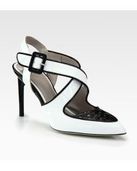 Jason Wu Peggy Patent Leather Woven Pump - Lyst