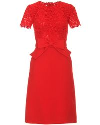 Valentino Dress with Bow Belt red - Lyst