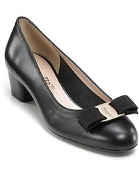Ferragamo Pumps Vara Low Heel - Lyst