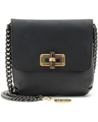 Lanvin Leather Shoulder Bag with Chain Strap - Lyst